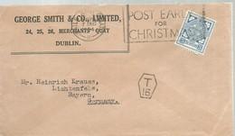 LETTER  1924  TAXE - 1922-37 Estado Libre Irlandés