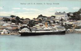Grenada / 06 - Harbour With R.M Steamer - St George - Grenada
