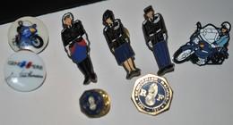 Rare Lot De 8 Pin's Gendarmerie - Polizei