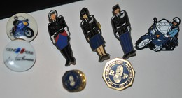Rare Lot De 8 Pin's Gendarmerie - Police & Gendarmerie