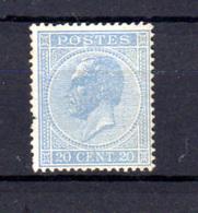 1865-66   Belgique, 20c Léopold 1er, 18 * Sans Gomme Cote 275 €, - 1865-1866 Profilo Sinistro