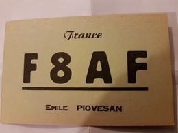 CARTE QSL RADIO AMATEUR FRANCE VILLENEUVE LA GARENNE SEINE 1960 - Radio Amateur