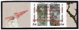 "Tajikistan. 2016 Red Ovpt ""55y Y.Gagarin Flight"" On Flora.Imperf. Pair 2v  (oo) - Tajikistan"