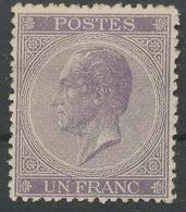 1865-66   Belgique, Léopold 1er,21 * Sans Gomme, Cote 1520 €, - 1865-1866 Profile Left