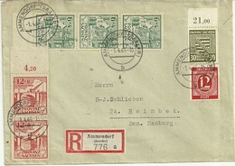 SBZ Portor. R-Brief Mit Ankunftsstempel - Sowjetische Zone (SBZ)
