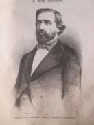GRAVURE 1867.  Verdi  Giuseppe  Portrait +  Don Carlos  Auto D Fe - Zonder Classificatie
