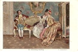 """I. Scmutzler. An Interesting Reading"" Tuck Continental Art Seris PC # 4102 - Tuck, Raphael"