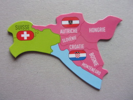 Magnet Savane Brossard Autriche Hongrie Slovénie Croatie Bosnie Monténégro Suisse Europe - Tourisme
