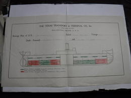 GALVESTON    -- TEXAS  ---   THE TEXAS TRANSPORT & TERMINAL  CO. INC. - Etats-Unis