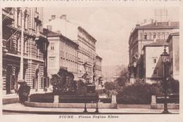 FIUME. PIAZZA REGINA ELENA. ED EMIRO FANTINI. NON CIRCULEE CIRCA 1910's CPA - BLEUP - Kroatië