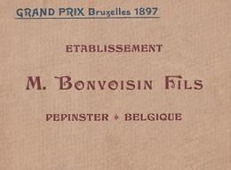 PEPINSTER ( Verviers ) TEXTILE Filature De Laines Cardées Bonvoisin   RARE - Cultuur