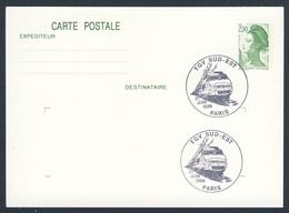 France Rep. Française 1989 Card Karte Carte - TGV Sud-Est, Paris / Express Train / Hochgeschwindigkeitszug - Treinen