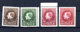 1929   Belgique, Grand Montenez, 289 / 292**, Cote 800 €, - 1929-1941 Grand Montenez