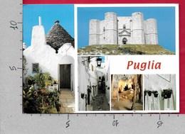 CARTOLINA VG ITALIA - PUGLIA - Vedutine Multivue - Trulli - 12 X 17 - ANN. 2002 LOTTA TUMORI AL SENO - Italia