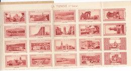 20 Vignettes Tunisie , Au Profit De La Chapelle St Benoit à Issy Les Moulineaux , Hauts De Seine ,2 Scans - Blocks & Sheetlets & Booklets