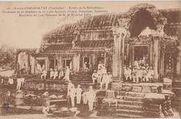 1920-30 Cambodge Maréchal Joffre Aux Ruines D'Angkor-Vat TB Animée éditeur L.Clospin Saigon Dos Scané - Other