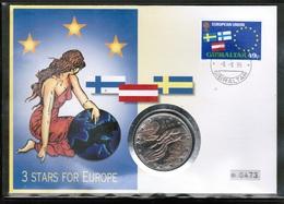 EUROPEAN IDEAS 1995 GI MI 709 GIBRALTAR FDC - Idee Europee