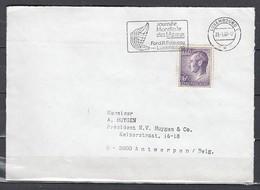 Brief Van Luxembourg Journée Mondiale Des Lépreux Naar Antwerpen - Lettres & Documents