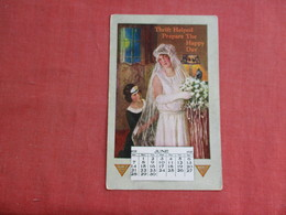 Thrift Helped Prepare For The Day  Calendar June 1925   Ref 3116 - Publicidad
