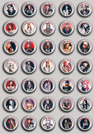 35 X Guns N' Roses BAND - Axl Rose Music Fan ART BADGE BUTTON PIN SET 2 (1inch/25mm Diameter) - Music
