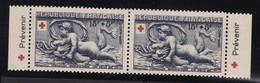 PUBLICITE CROIX ROUGE 1952-prévenir EN PAIRE DE CARNET NEUFS** - Advertising