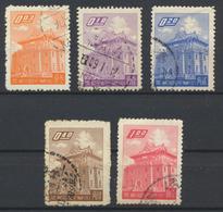 °°° CHINA TAIWAN FORMOSA - Y&T N°284/85/86/87/89 - 1959 °°° - Gebraucht