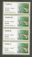 SPAIN 2018 ATM EXFILNA SEVILLA TARIFA A A2 B AND C  MONUMENTS PUENTE BRIDGE - 1931-Aujourd'hui: II. République - ....Juan Carlos I