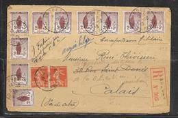 LOT 1901072 - N° 148 SUR LETTRE RECOMMANDEE DE ARQUES DU 04/10/18 POUR CALAIS - Postmark Collection (Covers)