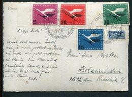 """Bundesrepublik Deutschland / 1955 / Mi. 205-208 Kpl. A. AK """"Hannover-Messe"""", SSt. (4/232) - [7] République Fédérale"""
