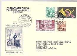 1949 BUNDESFEIER 1949 R. Carlos Faeh Berne > Goldach (430) - Cartas