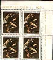74841) ITALIA-QUARTINA- 4º Cen. Della Nascita Di Michelangelo Merisi, Detto Il Caravaggio - 28-9 1973-MNH** - 6. 1946-.. Repubblica