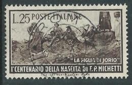 1951 ITALIA USATO MICHETTI - F7-6 - 6. 1946-.. República