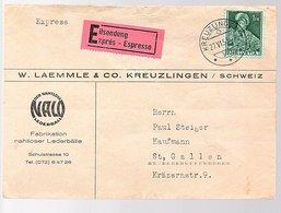 1953 Exprès Lämmle Kreuzlingen Nachtloser Lederbälle (432) - Lettres & Documents