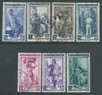 1955-57 ITALIA USATO LAVORO 7 VALORI STELLE - F7-10 - 1946-.. République