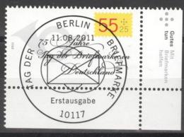 BRD 2882 Eckrand Unten Rechts O Sonderstempel Berlin - BRD