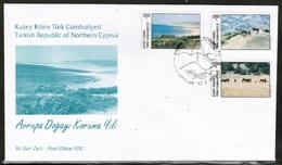 EUROPEAN IDEAS 1995 CY TR MI 392-94 CYPRUS TURKEY FDC - European Ideas
