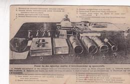LO QUE CONTENIA LA VALIJA DIPLOMATICA ALMEANA DE CHRISTIANIA. CIRCA 1910s- BLEUP - Postkaarten