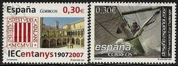 2007-ED. 4312 Y 13-2 COMPLETAS-CENT. INSTITUT D'ESTUDIS CATALANS-32nd AMERICA'S CUP CHALLENGER.VELERO EN PLENA REGATA-US - 1931-Today: 2nd Rep - ... Juan Carlos I