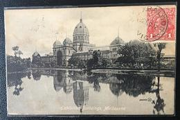 AUSTRALIA.1917.MELBOURNE EXHIBITION BUILDINGS CIRCULATED CENSORED POSTCARD. - Melbourne