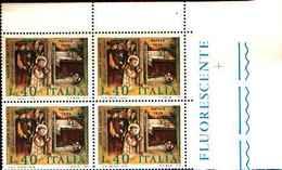 74847) ITALIA-QUARTINA-Natale - 26 Novembre 1974 -MNH** - 6. 1946-.. Repubblica