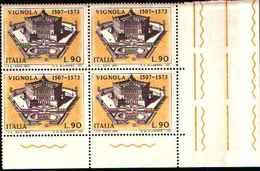 74848) ITALIA-QUARTINA-4º Centenario Della Morte Di Jacopo Barozzi, Detto Il Vignola - 21 Settembre 1973 -MNH** - 6. 1946-.. Repubblica
