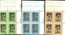 74849) ITALIA-QUARTINA-Natale - 27 Novembre 1973 -MNH** - 6. 1946-.. Repubblica