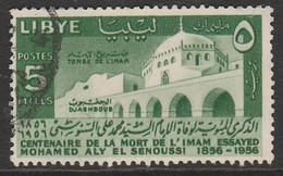 Libya 1956 The 100th Anniversary Of The Death Of Imam Essayed Mohamed Aly El Senussi 5 M Green SW 71 O Used - Libya