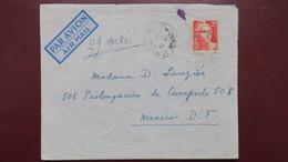 Gandon N° 729 Seul Sur Lettre Pour Le Mexique Mai 1947 Au Verso Cachet De Tacubaya - Postmark Collection (Covers)