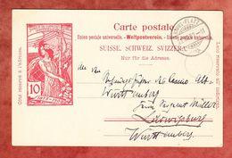 P 33 Weltpostverein, Davos-Platz Nach Ludwigsburg 1900 (68362) - Entiers Postaux