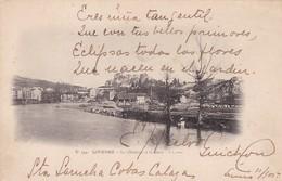 LOURDES. LE CHATEAU ET LE GAVE. DT EDIT N°194. CIRCULEE L'ARGENTINE CIRCA 1900 - BLEUP - Lourdes