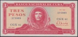 1985-BK-188 CUBA 1985 3$ UNC REEMPLAZO REPLACEMENT ERNESTO CHE GUEVARA. - Cuba