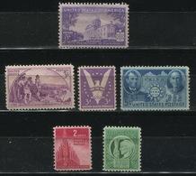 USA - 1941-42-43 Lot Of 6 Stamps MNH** - Lot. USA41 - United States
