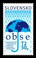 Slovakia 2019 Mih. 862 Chairmanship Of Slovakia Of Organization For Security And Co-operation In Europe (OSCE) MNH ** - Unused Stamps