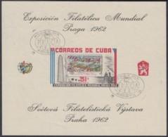 1962.162 CUBA 1962 HF FDC EXPO PRAGA CHECOSLOVAQUIA. ERROR COLORES DESPLAZADOS Y CANCELADA EN PRIMER DIA. RARA. - Cuba